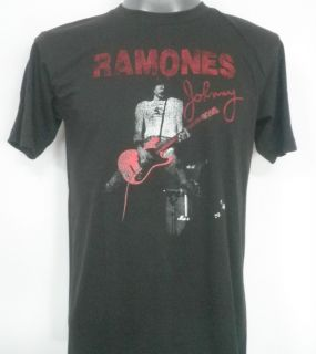 Ramones Johnny Ramone Rock T Shirt Black Size Large
