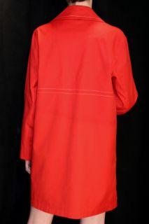 M Vtg 60s Mod Orange USA Misty Harbor Jonathan Logan Rain Trench Coat Jacket