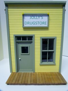 G SCALE HANDCRAFTED BUILDING DRUG STORE JOLLYS
