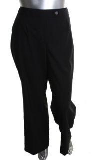 Jones New York NEW Black Wool Button Pocket Dress Pants Plus 16W BHFO