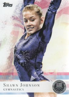 2012 Topps U s Olympic Team Silver 1 Shawn Johnson Gymnastics