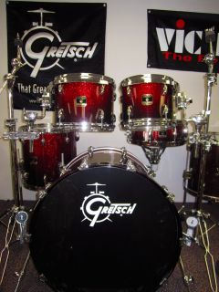 Gretsch Renown Maple Drum Set Shell Pack Played by Mike Johnston