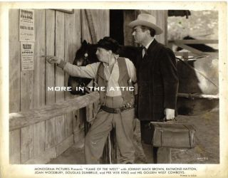 Cowboy Western Johnny Mack Brown Orig Flame of The West Monogram Pictures Still