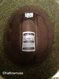 New Irish Walking Hat Donegal Tweed Walker Dark Olive Green Jonathan Richard