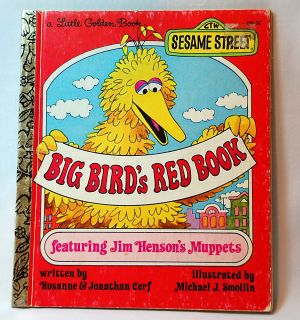 Sesame Street Book Big Bird's Red Book 1977 1981 Golden