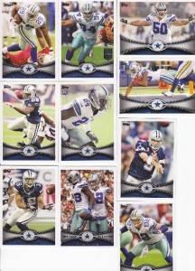 2012 Topps Dallas Cowboys Team Set 10 Cards Claiborne RC