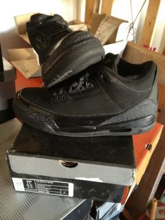 Air Jordan Retro 3 Black Cat DS 11 5