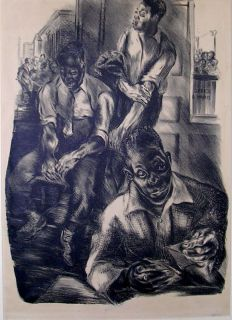 "Nan Lurie African American Ed 25 ""Next "" Lithograph"