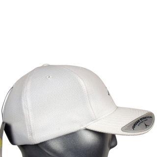 Nike Cap Air Jordan Baseball Stretch Fitted Men Black White New