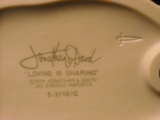 1979 Precious Moments Jonathan David Loving Is Sharing E 3110 G
