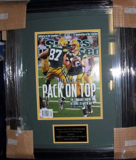 Aaron Rodgers Jordy Nelson Signed SI Super Bowl Issue Framed Auto JSA GB Packers