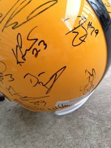 PITTSBURGH STEELERS TEAM AUTOGRAPHED FULL SIZE HELMET PROOF BIG BEN MILLER