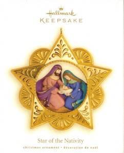 Star of the Nativity 2009 Hallmark Christmas Ornament Baby Jesus Mary Joseph
