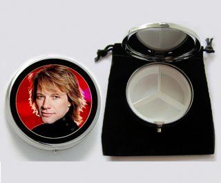 Jon Bon Jovi Pill Box Black Pouch 2153