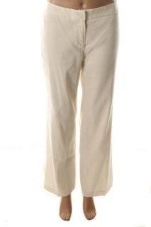 Jones New York New Ivory Linen Flat Front Stretch Dress Pants Petites 10P BHFO
