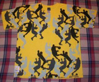 Vintage Nike Air Force 1 Flight Michael Jordan T Shirt XL Chicago Bulls Yellow
