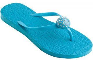 Lindsay Phillips Switchflops Jordi Flip Flops women size 10 Aqua Blue Sandals