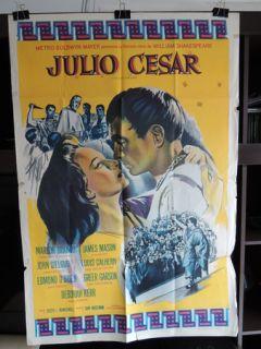 JULIUS CAESAR ORIGINAL VINTAGE ARG R62 MOVIE POSTER MARLON BRANDO