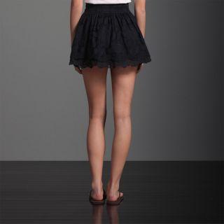 Abercrombie Fitch Women Floral Crochet Lace Mini Short Skirt Jorie Small
