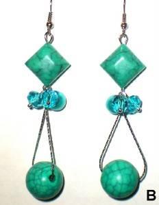 Gorgeous Turquoise Crystal Beads Dangle Earrings U Pick Style