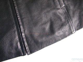 Joshua Ross Black Leather Jacket Womens M Medium