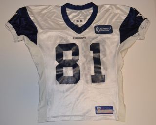 Terrell Owens Game Used Worn Dallas Cowboys Practice Jersey COA PROVA Chip