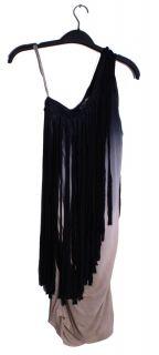Young Fabulous and Broke Josiah Fringe Tie Dye Asymmetrical One Shoulder Dress