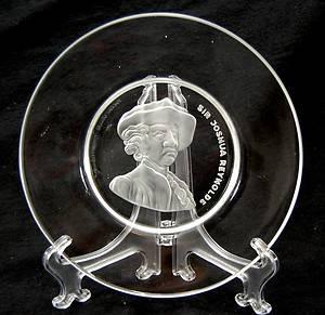 Val St Lambert Crystal Sir Joshua Reynolds Glass Plate