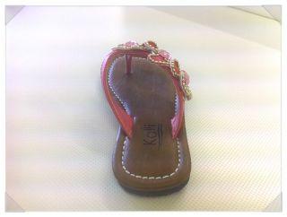 Cute Junior Girl Flip Flops Kids Flower Beach Flat Sandals VanillaJr
