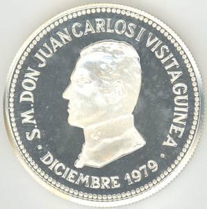 Equatorial Guinea 2000 Bipkwele 1979 Juan Carlos I Gem Proof Silver Coin
