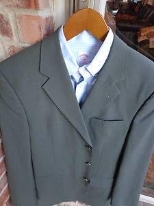 Joseph A Bank Brown 3 Btn Wool Mens Blazer Suit Sport Coat Jacket 42L Long Tall