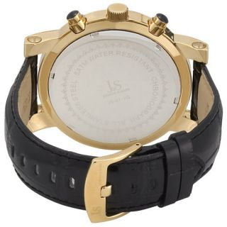 Joshua Sons JS 07 YG Chronograph Black Strap Date Mens Watch