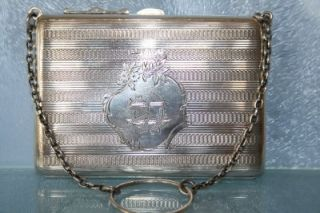 An Amazing Antique Solid Silver Large Purse HM Chester 1909 113 4G