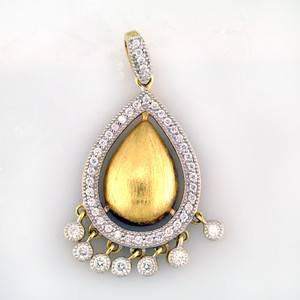 Diamond Jude Frances Pendant wtih 1 00 CARAT Round Cuts in 18K YG
