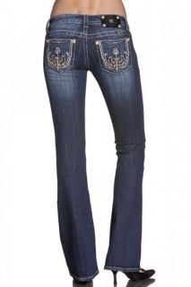 NWT Miss Me Size 27 Paris Illusion Boot Cut Lowrise Stretch Jeans JP5612B