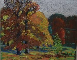 Indiana Hoosier Salon Artist Lawrence Mcconaha Impressionist Pastel Painting