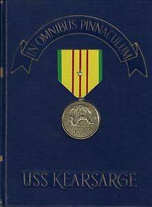 USS Kearsarge CV 33 Vietnam War Deployment Cruise Book Year Log 1967 68