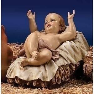 Joseph's Studio Baby Jesus Hand Painted Indoor Outdoor Nativity Statue in Color