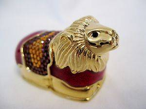Estee Lauder collectible Royal Lion solid perfume compact by Judith Leiber
