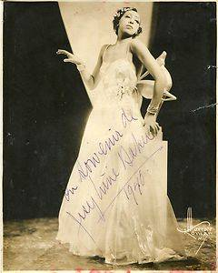 Josephine Baker Autograph Vintage Signed 8x10 Photo