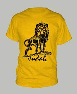 The Lion of Judah T Shirt Christian Jesus Religious Gold Extra Large Tee