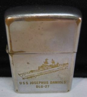 1968 Zippo Lighter USS Josephus Daniels Vietnam War