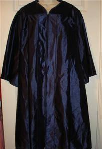 Graduation Gown Robe Judge Costume Choir One Size Dark Navy Blue