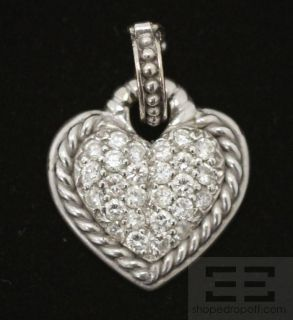 Judith Ripka 18K White Gold Diamond Heart Pendant