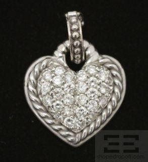 Judith Ripka 18K White Gold Diamond Heart Pendant