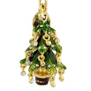 JUICY COUTURE CHRISTMAS TREE CHARM FOR BRACELET DAYDREAMER TOTE BAG KEYRING