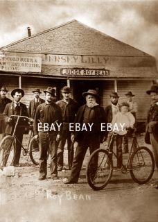 "Judge Roy Bean Langtry Texas TX ""The Jersey Lily"" Cowboy Saloon Bar Photo"