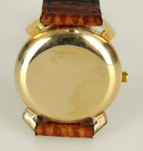 Jules Jurgensen 14k Gold Mens Wrist Watch Made in Swiss Automatic 17J
