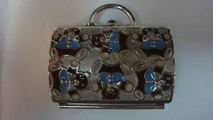 Judith Leiber Teddy Bear Purse Pill Box Compact by