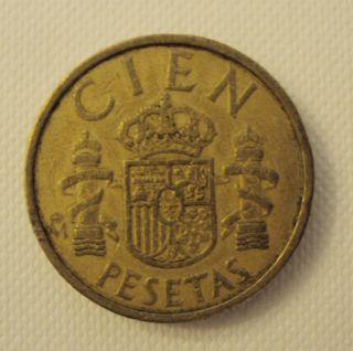 Coin 100 Pesetas 1984 Juan Carlos 1 Mint